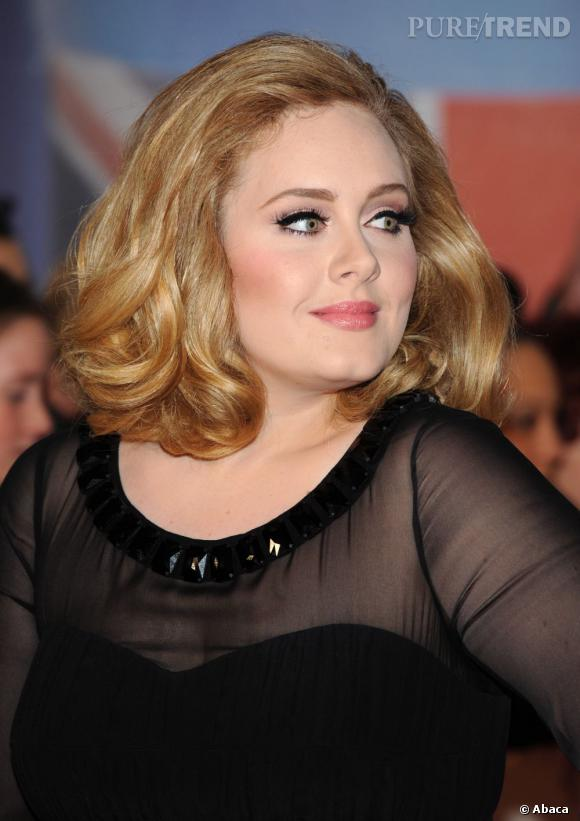 Adele lors des Brit Awards 2012 à Londres.