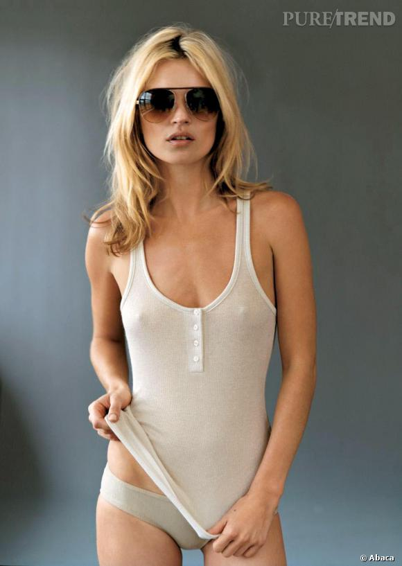 Même lorsqu'elle n'est pas topless, Kate Moss sait comment attirer le regard sur sa poitrine.