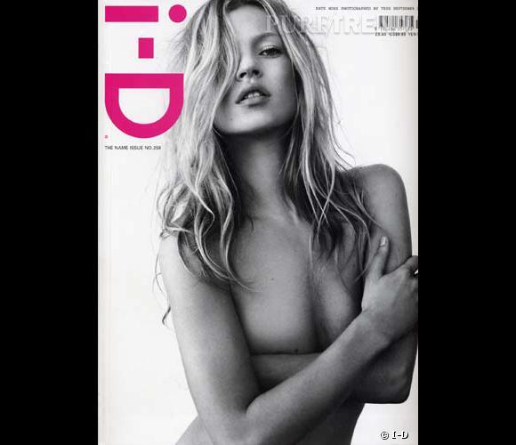 Kate Moss nous dévoile un grain de beauté en couverture d'I-D.