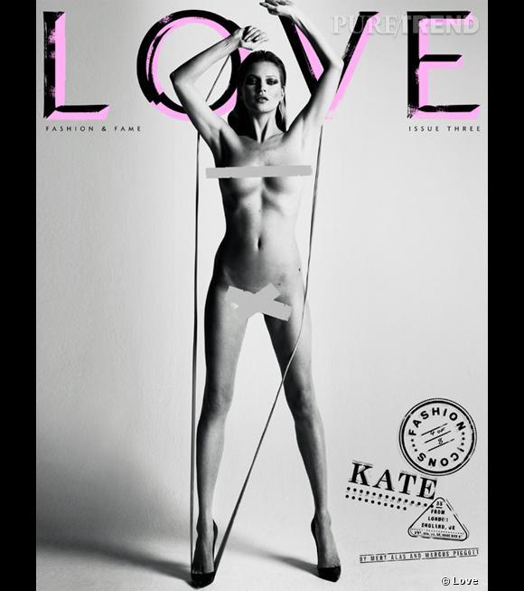 Topless ou entièrement nue, Kate Moss n'a aucun tabou.