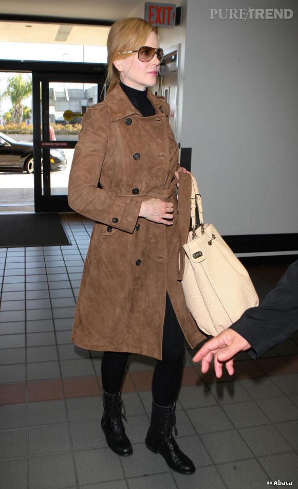 Nicole Kidman dans un total look Tod's fait sensation.