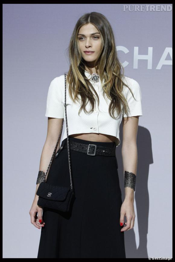 Elisa Sednaoui au défilé Automne-Hiver 2012/2013 Chanel.