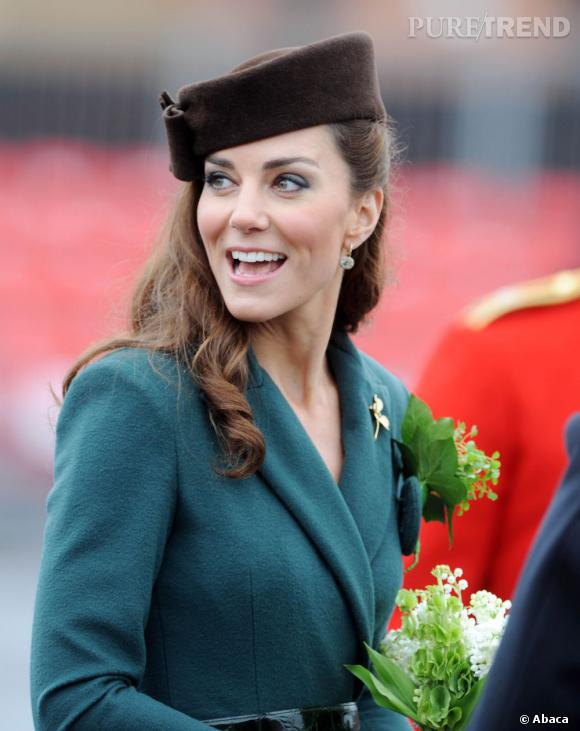 Kate Middleton assiste à la parade de la Saint Patrick.