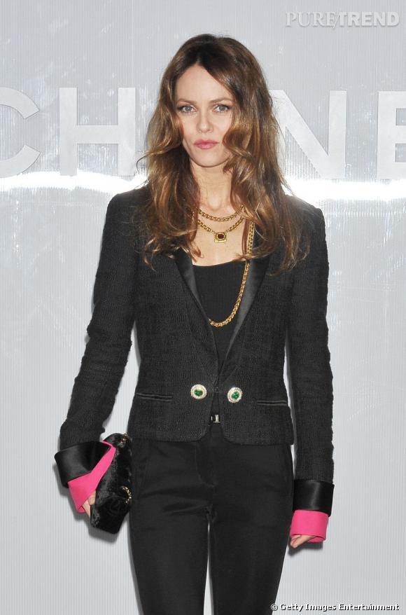 Vanessa Paradis à l'inauguration de la boutique éphémère Chanel à Tokyo.