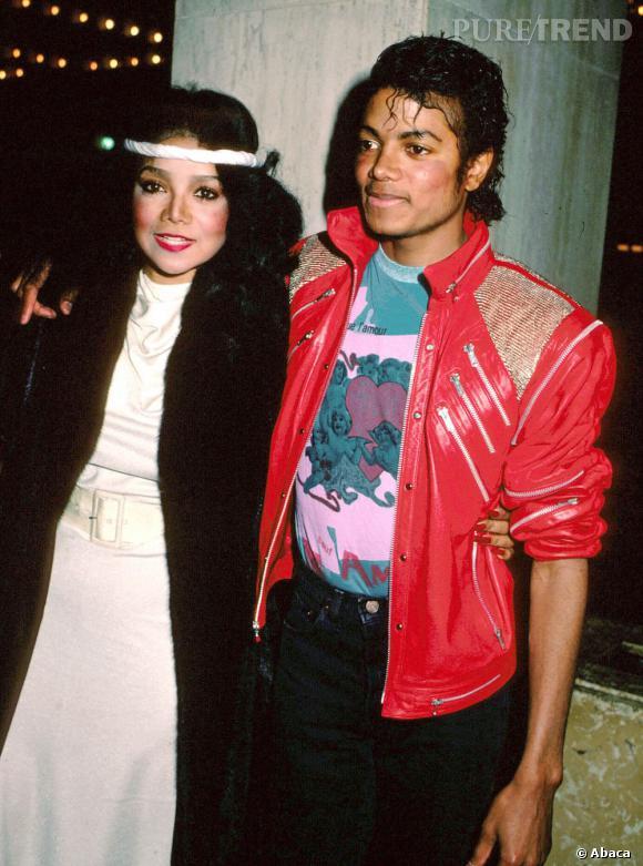 Michael Jackson et sa soeur LaToya en 1984.
