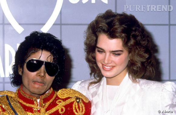 Michael Jackson et Brooke Shields en 1984, une amitié à toute épreuve.