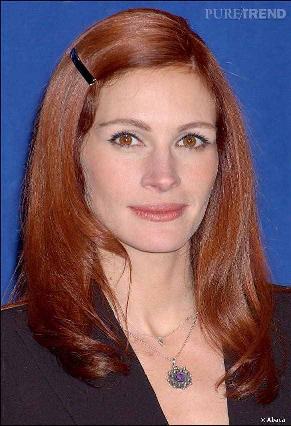 julia roberts assortit sa couleur de cheveux ses yeux noisette dommage que le brushing lisse. Black Bedroom Furniture Sets. Home Design Ideas