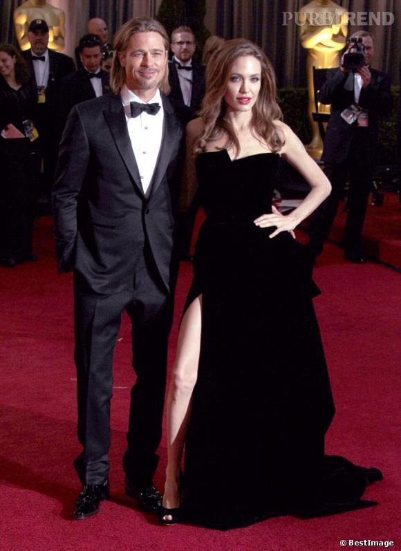 """Brad Pitt et Angelina Jolie, le couple s'est formé sur le tournage du film """"Mr & Mrs Smith"""" en 2004."""