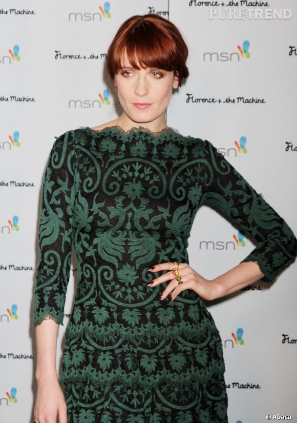 """Florence Welch présidait la soirée de clôture de sa tournée pour l'album """"Ceremonials"""" à Las Vegas."""