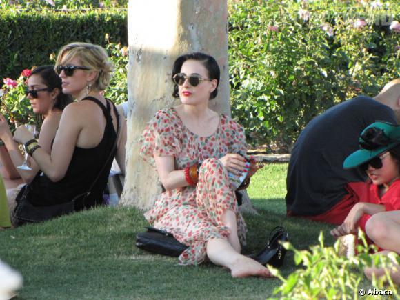 Dita Von Teese au Festival de Coachella à Indio en Californie.