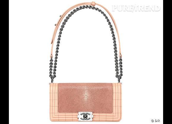 Must Have : les nouveaux Boy de Chanel Sac Boy Chanel rose foncé en cuir exotique, collection Printemps-Eté 2012