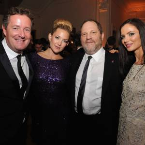 Piers Morgan, Kate Hudson, Harvey Weinstein et Georgina Chapman.