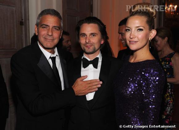 George Clooney, Matthew Bellamy et Kate Hudson au Diner des Correspondants de la Maison Blanche à Washington.