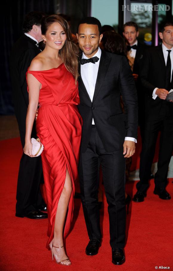 Le chanteur John Legend et sa girlfriend Chrissy Teigen.
