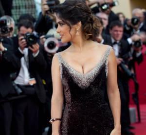 Cannes 2012 : Salma Hayek, montée des marches sexy