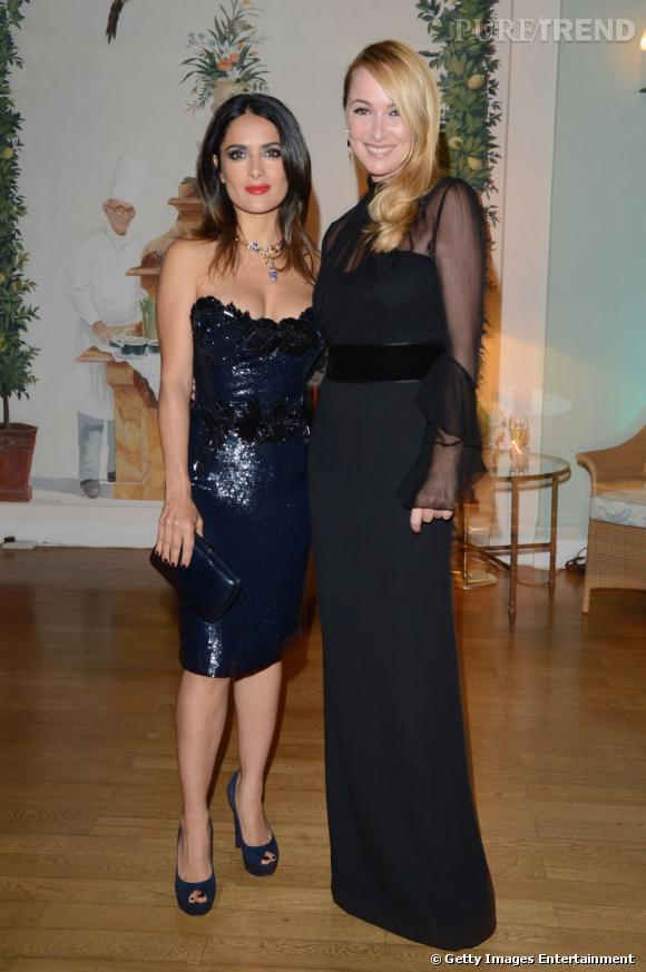 Salma Hayek aux côtés de Frida Giannini.