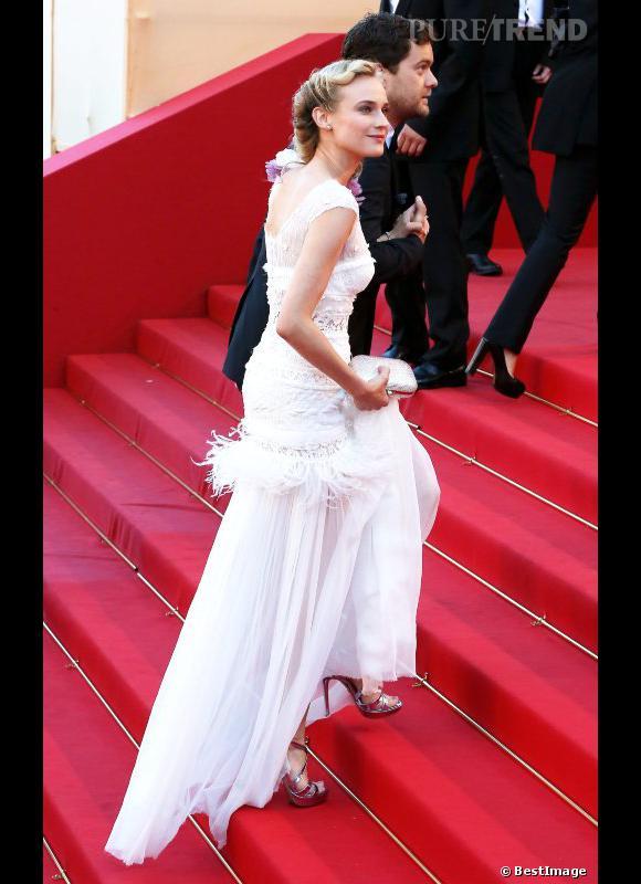 """Diane Kruger lors de la montée des marches de """"Killing Them Softly"""" à Cannes."""