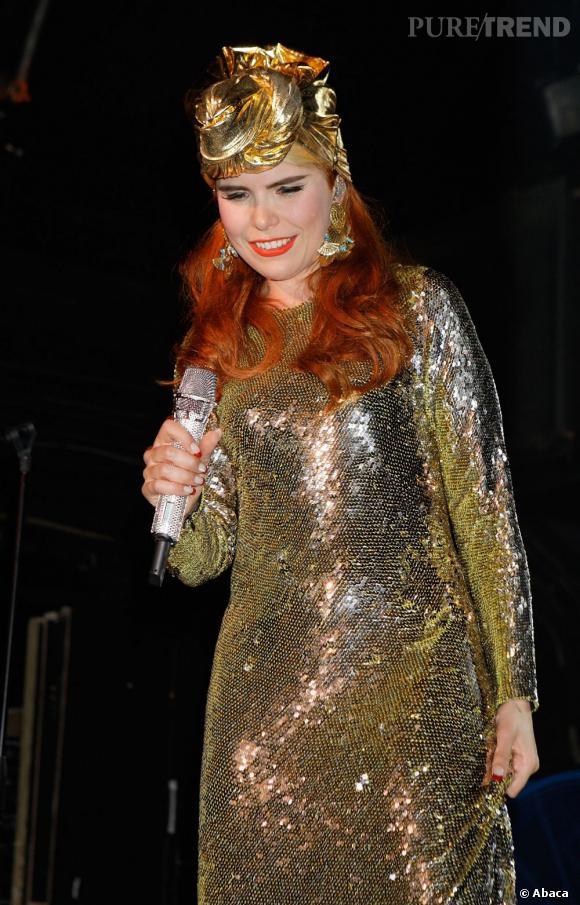 Paloma Faith en concert à Londres.