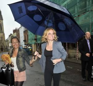 Geri Halliwell, bien petite sous son parapluie