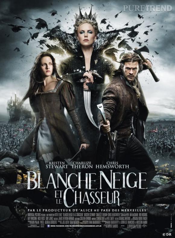 Dès l'affiche, on comprend que la version incluant Kristen Stewart et Charlize Theron surfe sur le héroïc-fantasy à la façon de Game of Thrones...