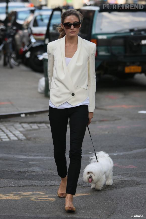 Olivia Palermo dans les rues de New York.