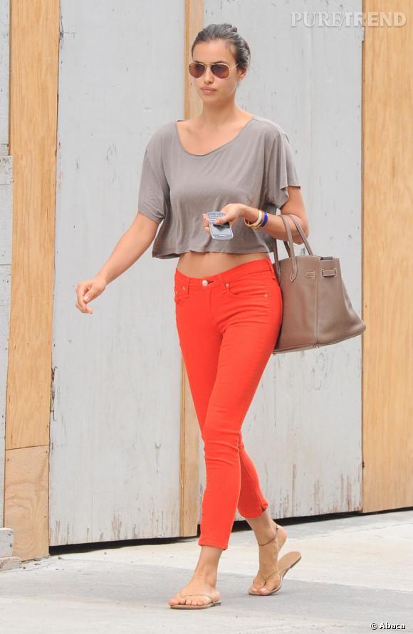 Irina Shayk dans les rues de New York le 17 juin.