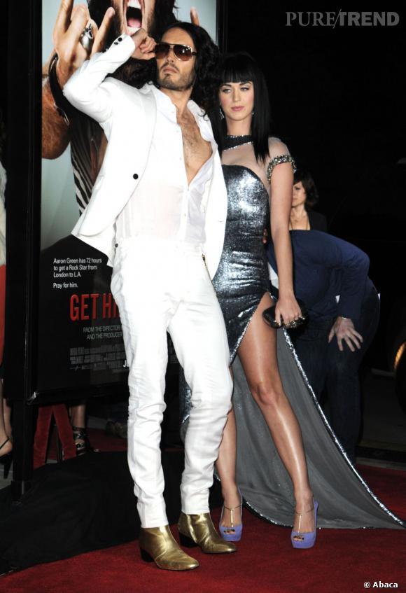 Le couple Katy Perry et Russell Brand aura fait couler beaucoup d'encre, autant par leur relation que par leurs tenues sur tapis rouges !