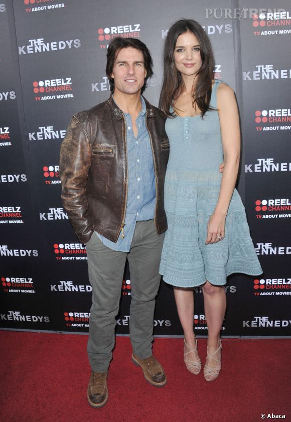Katie Holmes et Tom Cruise à la première de The Kennedys, film dans lequel Katie jouait Jackie Kennedy.