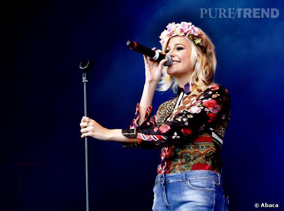 Pixie Lott au Cornbury Music Festival dans le Oxfordshire en Angleterre.