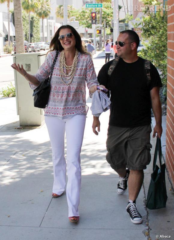 Brooke Shields copine avec les paparazzis.