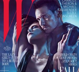 Michael Fassbender et Charlize Theron, couple très sexy ! Les couv en duo de W Magazine