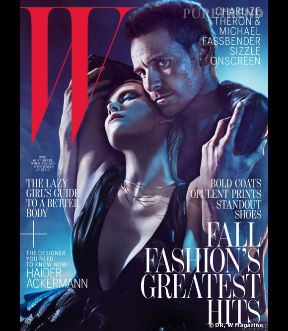 Charlize Theron et Michael Fassbender posent en Une de W Magazine dans une atmosphère très sombre et sexy