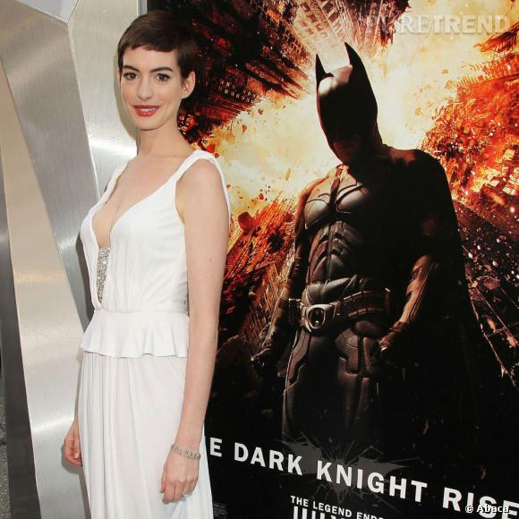 "Anne Hathaway à la première de ""The Dark Knight Rises"" à New York."