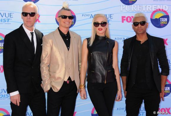 Gwen Stefani et son groupe No Doubt aux Teen Choice Awards 2012.