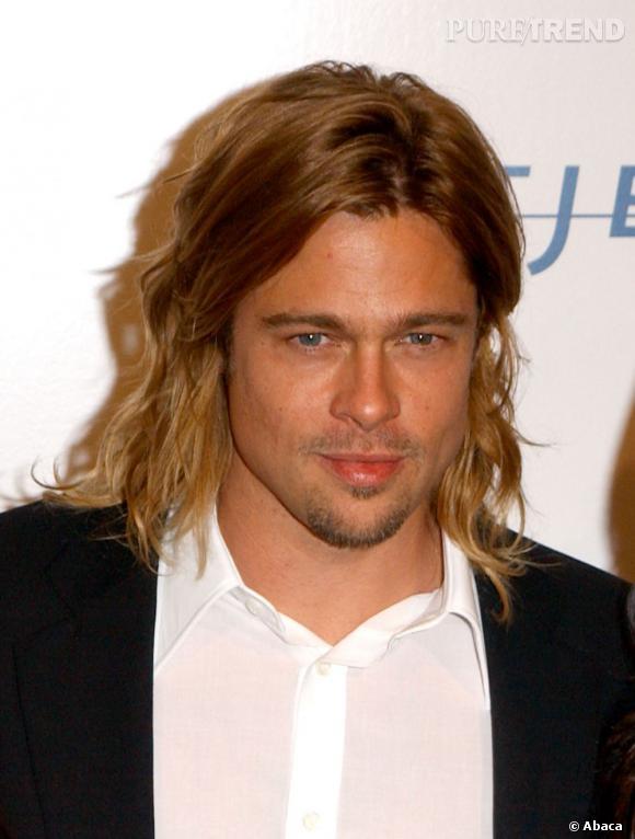 """Pour le film """"Entretien avec un vampire"""", Brad Pitt s'était laissé pousser les cheveux façon jouvenceau."""