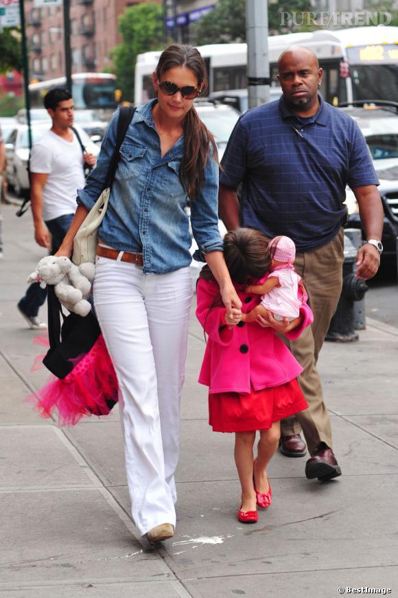 Katie Holmes et Suri Cruise dans les rues de New York, le 20 août dernier.