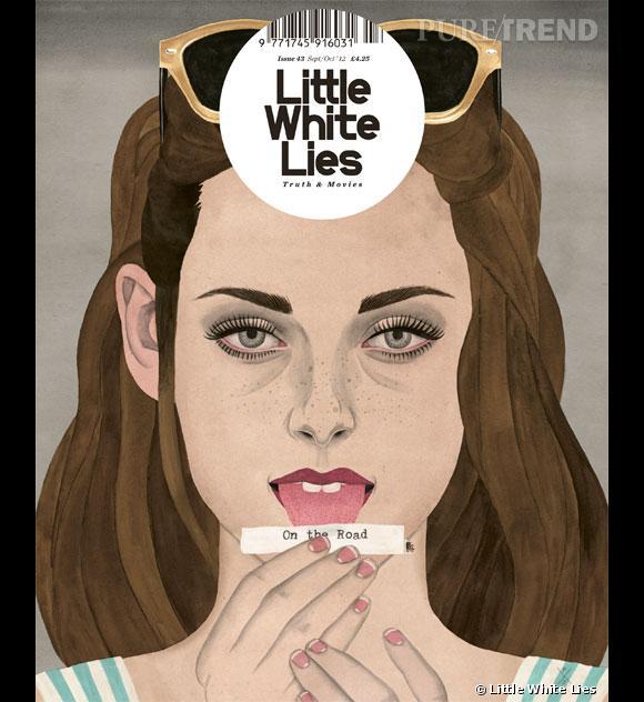 """Kristen Stewart """"fait"""" la couverture du magazine Little White Lies sous son personnage de Marilou. Un numéro déjà sold out."""