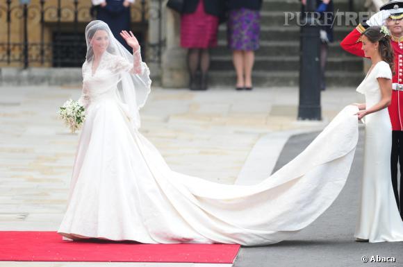 Le meilleur de Kate Middleton :  on est obligés de se remémorer sa robe de mariage Alexander McQueen. Un vrai bijoux.