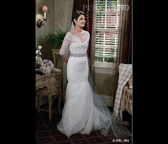 """Cobie Smulders, mariée à l'écran dans """"How I Met Your Mother""""... Et dans la vraie vie le 8 septembre dernier."""