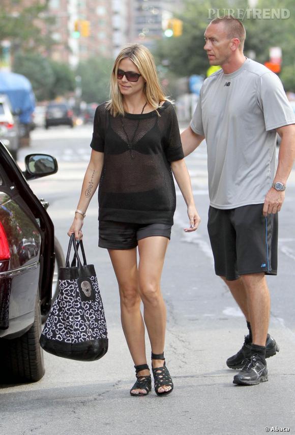 Heidi Klum confirme être en couple avec son garde du corps sur le plateau de l'émission de Katie Couric.