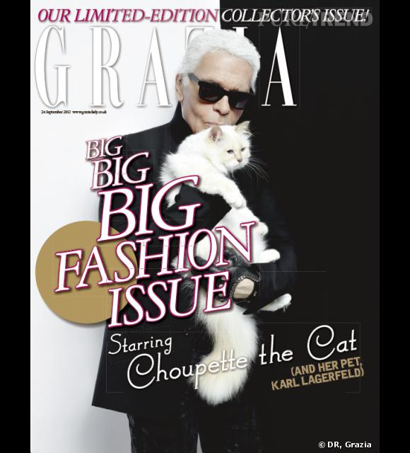 Chouette et Karl Lagerfeld pour Grazia.