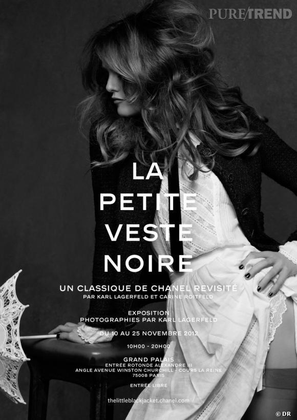 Exposition La Petite Veste Noire : Un classique de CHANEL revisité par Karl Lagerfeld et Carine Roitfeld.