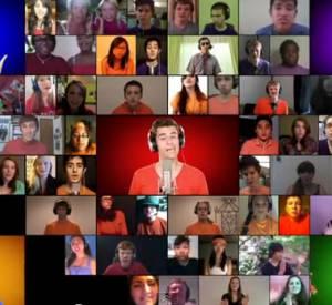Mike Tompkins, pro du beatbox et star aux Etats-Unis, a demandé aux fans Youtube d'envoyer leur propre vidéo de reprise. Le résultat ? Un clip participatif !