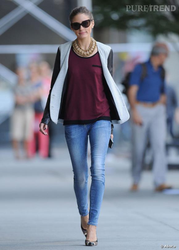 Olivia Palermo dans les rues de New York le 21 septembre dernier.
