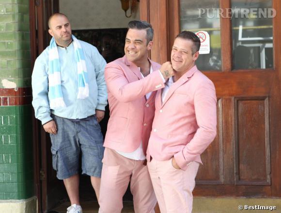 """Robbie Williams a pris une doublure pour son dernier clip : """"Candy""""."""