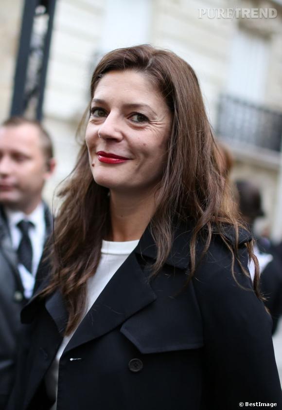 Chiara Mastroianni  avant le défilé Printemps/Été 2013 Balenciaga.
