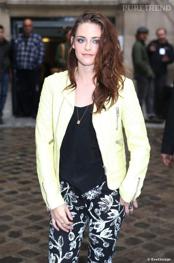 Kristen Stewart avant le défilé Printemps/Été 2013 Balenciaga.