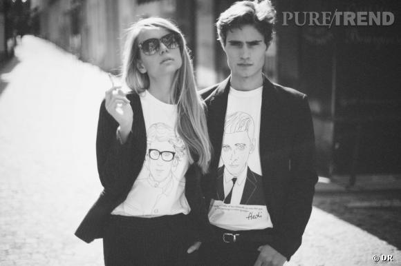 T-shirts Yves Saint Laurent et Hedi Slimane de Maison Seine.