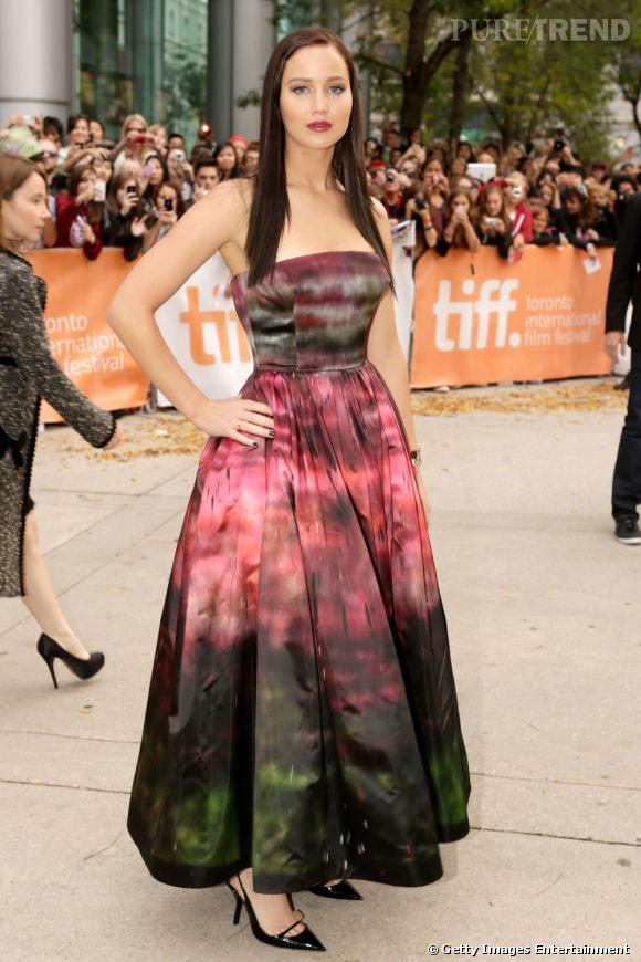 Jennifer Lawrence en Christian Dior Haute Couture Automne-Hiver 2012/2013.
