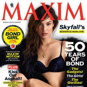 Comme son compère GQ, le magazine Maxim aime la James Bond Girl en sous-vêtements.